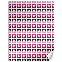 Pink Red Dots Canvas 36  X 48   by snowwhitegirl