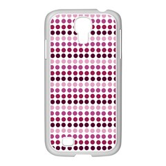 Pink Red Dots Samsung Galaxy S4 I9500/ I9505 Case (white) by snowwhitegirl