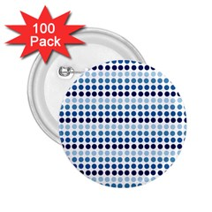 Blue Dots 2 25  Buttons (100 Pack)