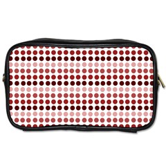Reddish Dots Toiletries Bags 2 Side by snowwhitegirl
