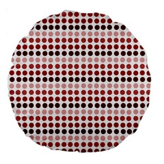 Reddish Dots Large 18  Premium Round Cushions by snowwhitegirl