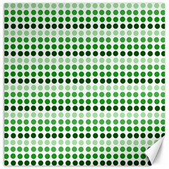 Greenish Dots Canvas 16  X 16   by snowwhitegirl