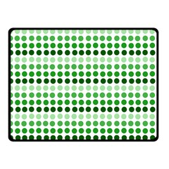 Greenish Dots Fleece Blanket (small)