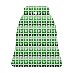 Greenish Dots Bell Ornament (two Sides) by snowwhitegirl