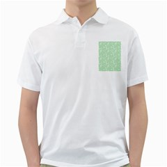 Mint Green White Music Golf Shirts by snowwhitegirl