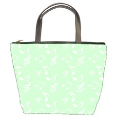 Mint Green White Music Bucket Bags by snowwhitegirl