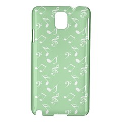 Mint Green White Music Samsung Galaxy Note 3 N9005 Hardshell Case by snowwhitegirl