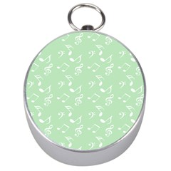 Mint Green White Music Silver Compasses