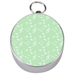 Mint Green White Music Silver Compasses Front