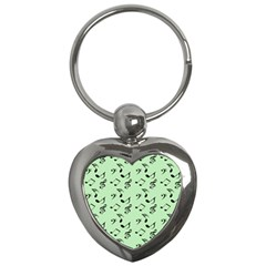 Mint Green Music Key Chains (heart)  by snowwhitegirl