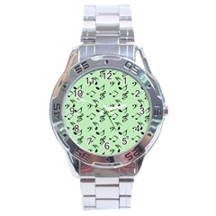 Mint Green Music Stainless Steel Analogue Watch by snowwhitegirl
