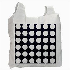 Big Dot Blue Recycle Bag (one Side)