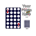 Big Dot Blue Playing Cards 54 (Mini)  Front - Heart3