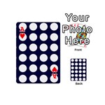 Big Dot Blue Playing Cards 54 (Mini)  Front - HeartA