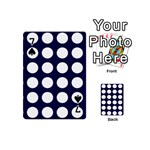 Big Dot Blue Playing Cards 54 (Mini)  Front - Spade7