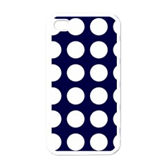 Big Dot Blue Apple Iphone 4 Case (white) by snowwhitegirl
