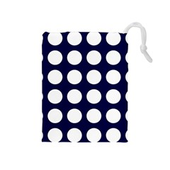 Big Dot Blue Drawstring Pouches (medium)