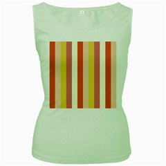 Candy Corn Women s Green Tank Top