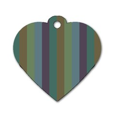 Rainy Woods Dog Tag Heart (one Side) by snowwhitegirl