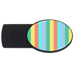 Summer Stripes Usb Flash Drive Oval (4 Gb) by snowwhitegirl