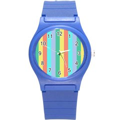 Summer Stripes Round Plastic Sport Watch (s) by snowwhitegirl