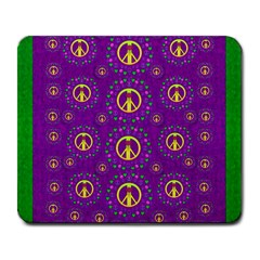 Peace Be With Us In Love And Understanding Large Mousepads by pepitasart