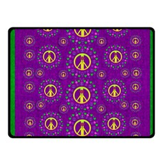 Peace Be With Us In Love And Understanding Fleece Blanket (small) by pepitasart