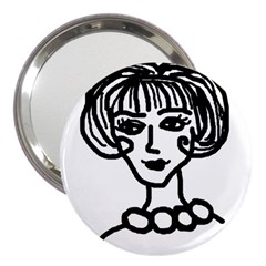 20s Girl 3  Handbag Mirrors by snowwhitegirl