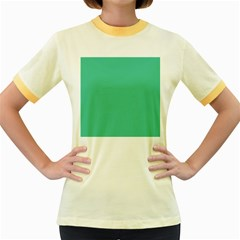 Seafoamy Green Women s Fitted Ringer T Shirts