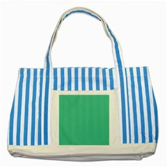 Seafoamy Green Striped Blue Tote Bag by snowwhitegirl