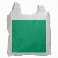 Seafoamy Green Recycle Bag (one Side) by snowwhitegirl