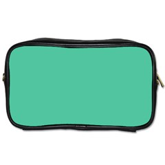 Seafoamy Green Toiletries Bags 2 Side by snowwhitegirl