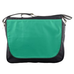 Seafoamy Green Messenger Bags by snowwhitegirl
