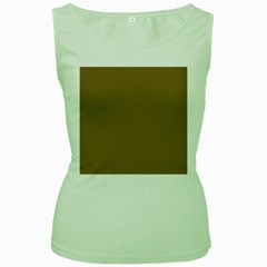 Brownish Women s Green Tank Top