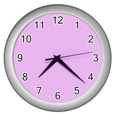 Baby Purple Wall Clocks (silver)  by snowwhitegirl