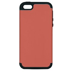 Late Peach Apple Iphone 5 Hardshell Case (pc+silicone) by snowwhitegirl