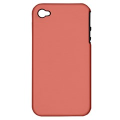Late Peach Apple Iphone 4/4s Hardshell Case (pc+silicone) by snowwhitegirl