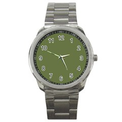 Earth Green Sport Metal Watch by snowwhitegirl