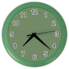 Army Green Color Wall Clocks