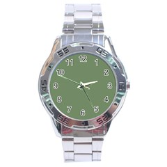 Army Green Stainless Steel Analogue Watch by snowwhitegirl