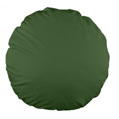 Army Green Large 18  Premium Round Cushions by snowwhitegirl