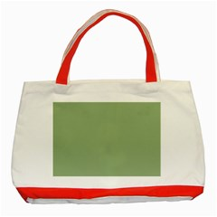 Tree Green Classic Tote Bag (red) by snowwhitegirl