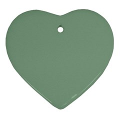 Mossy Green Ornament (heart) by snowwhitegirl