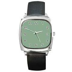 Mossy Green Square Metal Watch by snowwhitegirl