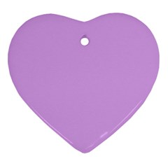 Purple Whim Heart Ornament (two Sides) by snowwhitegirl