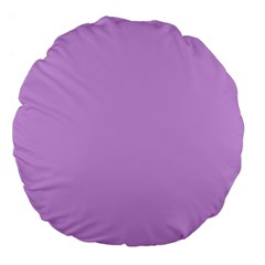 Purple Whim Large 18  Premium Flano Round Cushions by snowwhitegirl