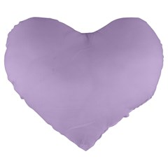 Baby Lilac Large 19  Premium Flano Heart Shape Cushions by snowwhitegirl