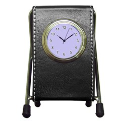 Violet Sweater Pen Holder Desk Clocks by snowwhitegirl