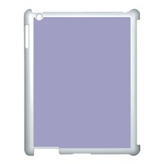 Grey Violet Apple Ipad 3/4 Case (white) by snowwhitegirl