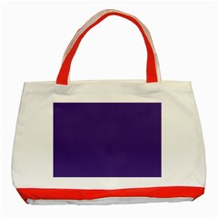 Dark Grape Purple Classic Tote Bag (red) by snowwhitegirl